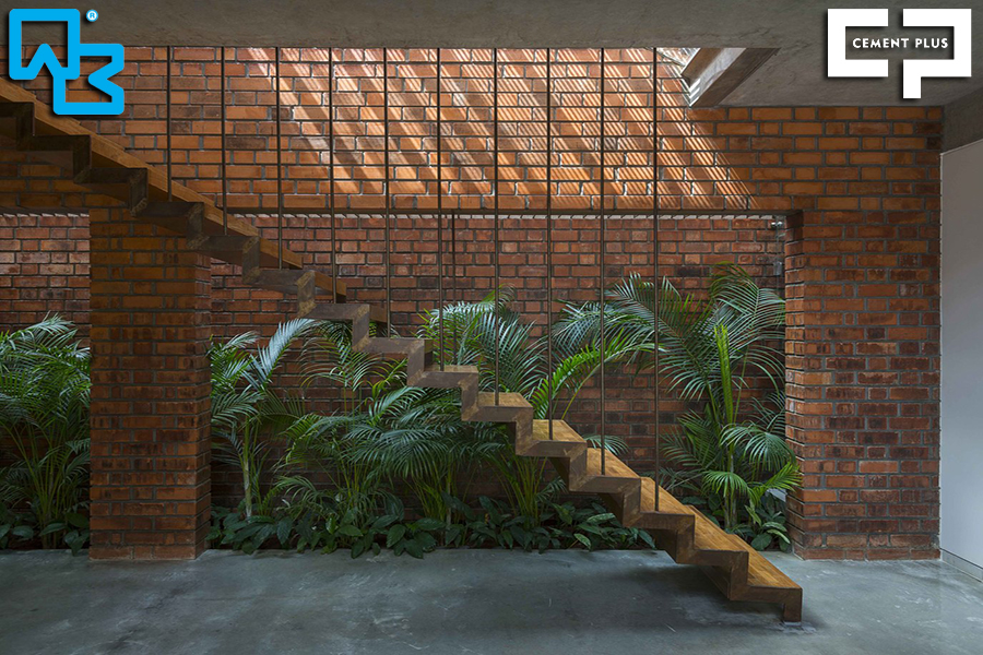 Brick House: Τούβλο, εμφανές μπετόν και πατητή τσιμεντοκονία!