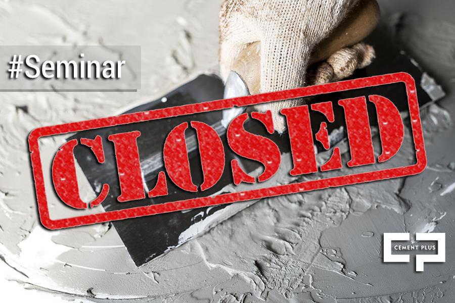Σεμινάριο Πιστοποίησης στην εφαρμογή των προϊόντων της Cement Plus!